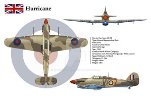 Hurricane GB 6 Sqn 3-View by WS-Clave