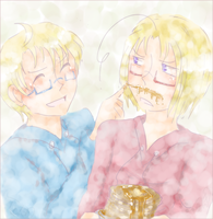 APH - USCan - Maplestache by ChaoticMiko