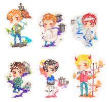EXO for Halloween: 2nd batch (colored) by misunderstoodpotato