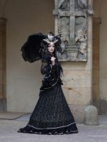 Stock - Black and gold Vampire Queen Faun Demon 35 by S-T-A-R-gazer