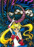 Sailor Moon in pen and ink by SofTabak