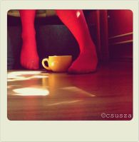drinking coffee II by csusza