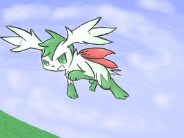 Shaymin Sky form.. by BluesKirby