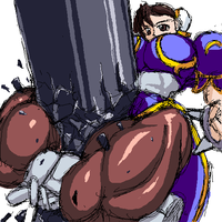 chun li crushing the iron pole by RENtb