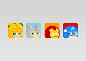 Avengers app icon by KimShuttle