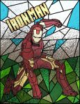 Iron Man Stained Glass by Daddysharky