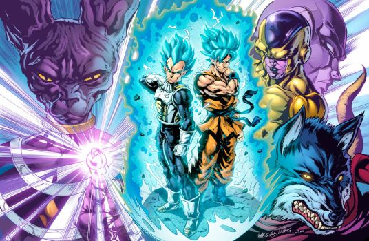 Dragon Ball Super: Saiyan Rivals (Clrs) by CdubbArt