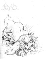 Entei WIP by SabreBash