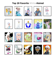 My Top 20 Favorite Toon White-Haired by Toongirl18