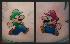 Luigi and Mario by Matyas Csiga Halasz by DublinInk