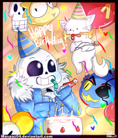 Happy Birthday Undertale ! by Maspaz04