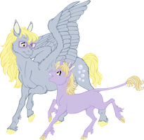 Derpy and Dinky by NattiKay