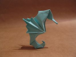 Origami seahorse by orimin