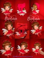chibi Sakura plush version by Momoiro-Botan
