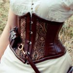 Detail of utility underbust corset by LillysWorkshop
