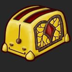 Self-satisfied toaster by Anmaril