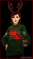 ME: Technological advances in christmas sweaters by Weissidian