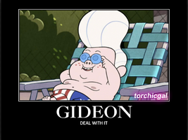 Gideon Deal With It by torchicgal