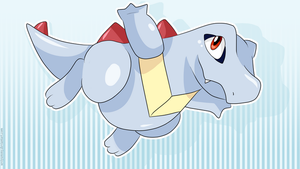 Totodile Wallpaper by SeviYummy