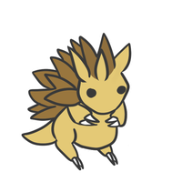 028 sandslash by pinkbunnii