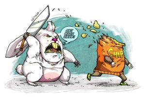 Chips make Bunny mad... by KetsuoTategami