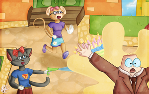 Battle Time in Toontown by BearyFunny