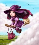 Molly and her broom by LiaSelina