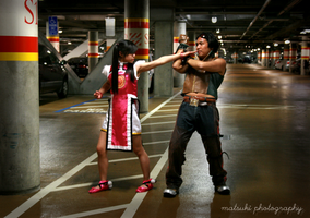XIAOYU VS HWOARANG by Honey-and-Matsuki