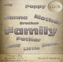 Wooden Words - Family - Digital Scrapbooking by shelldevil