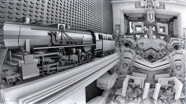 black train - Mandelbulb3D with Parameter and Map by matze2001