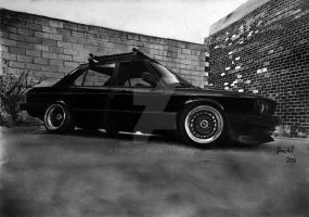 "BMW E28 535i ""Rusty"" 1989-Graphite by TarcDnB"