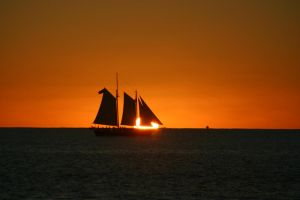 Sunset Sail One by GlennMichaelImages