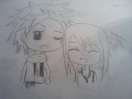 Natsu And Lucy (Part V of my Old Drawings Saga) by akari-61