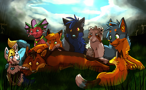 friends collab by FrostWarden