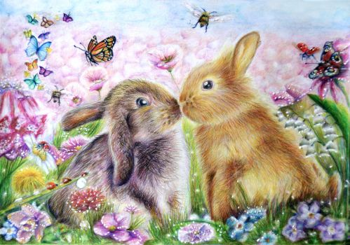 Little Bunnies by Alena-Koshkar
