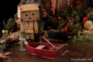 Danbo and the Boat by KerriaRosette