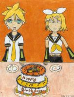 Happy Birthday Rin and Len by Heroes-Of-Light