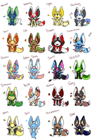 -Closed- Themed Bafhox Adopts -Raffle Contest!~ by Jingle101