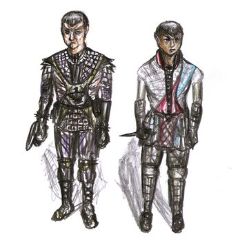 Romulans (alternate uniform designs) by punkandartStJimmy