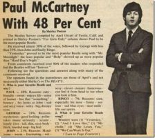 1960s Survey:Who's Your Favourite Beatle. by BeatlePaul1942