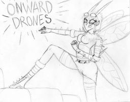 Lethal Sing Onward Drones by Scribbabbles