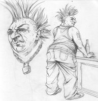 Fat punk rock guy by BrandonPalas