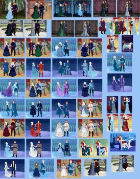Elsa and Hans Collage by ArielxJim08