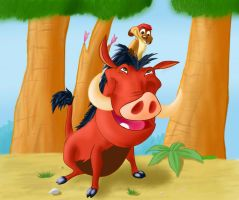 Timon and Pumbaa by WoW-200