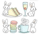 Bunnies with Afternoon Tea by BeckyBumble