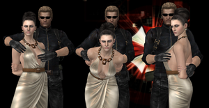 Excella X Wesker wallpaper by 4wearemanytoo
