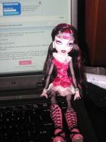 Draculaura's on my laptop by Slipknot527