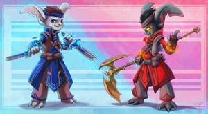 Commission - GW2 Asura - Between insanity by RinTheYordle