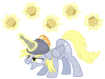 Derpy Hooves, artificial unicorn horn #1 by ZuTheSkunk