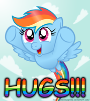 Dashie wants HUGS!!! by AleximusPrime